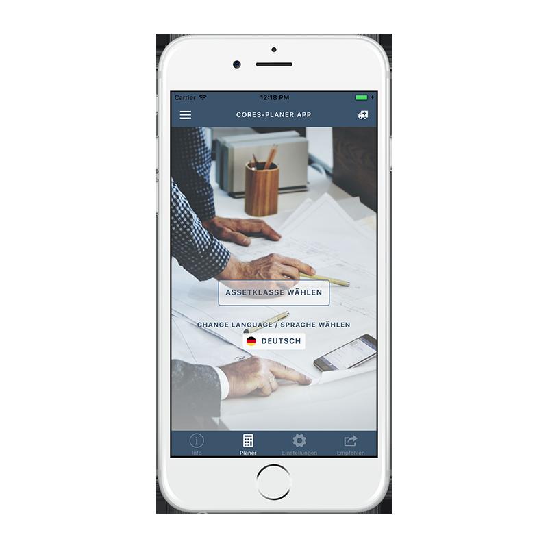 CORES App - Start