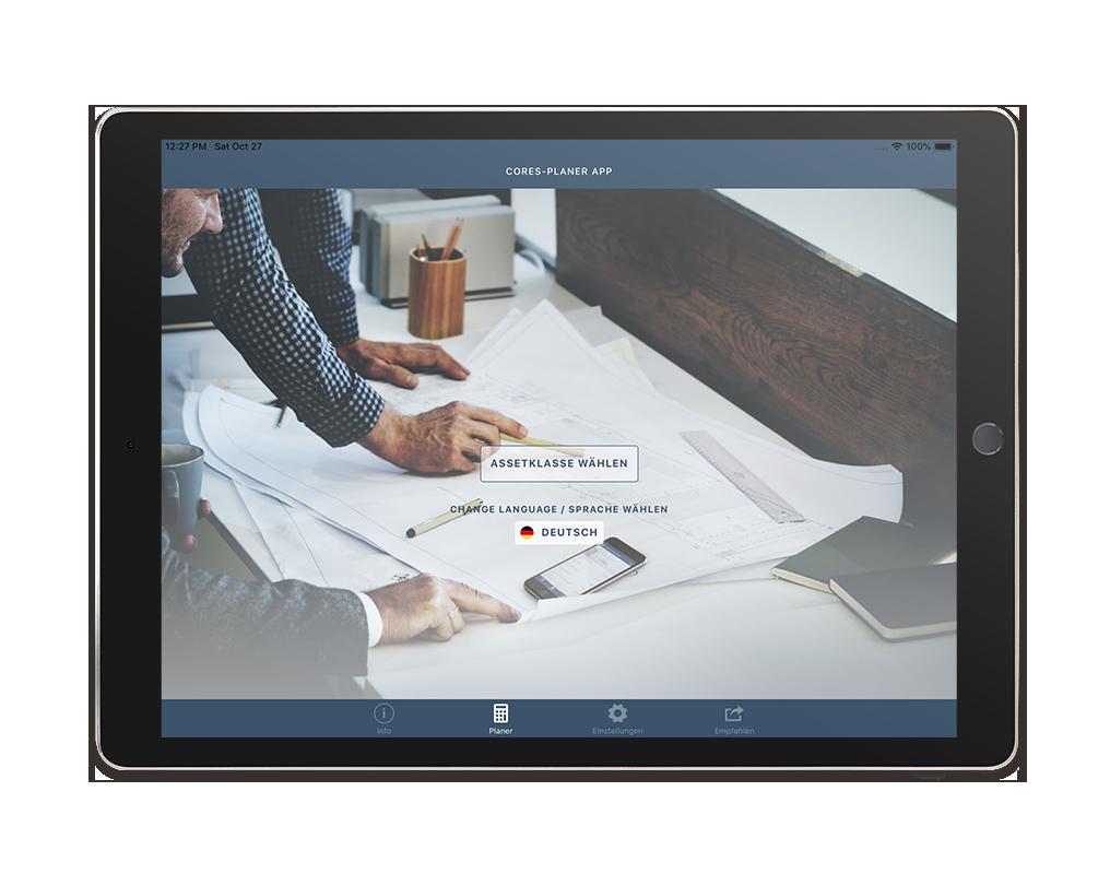 CORES Planer App – Start