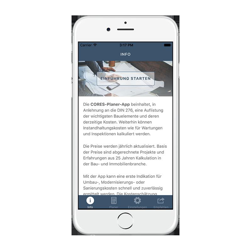CORES App - Einführung