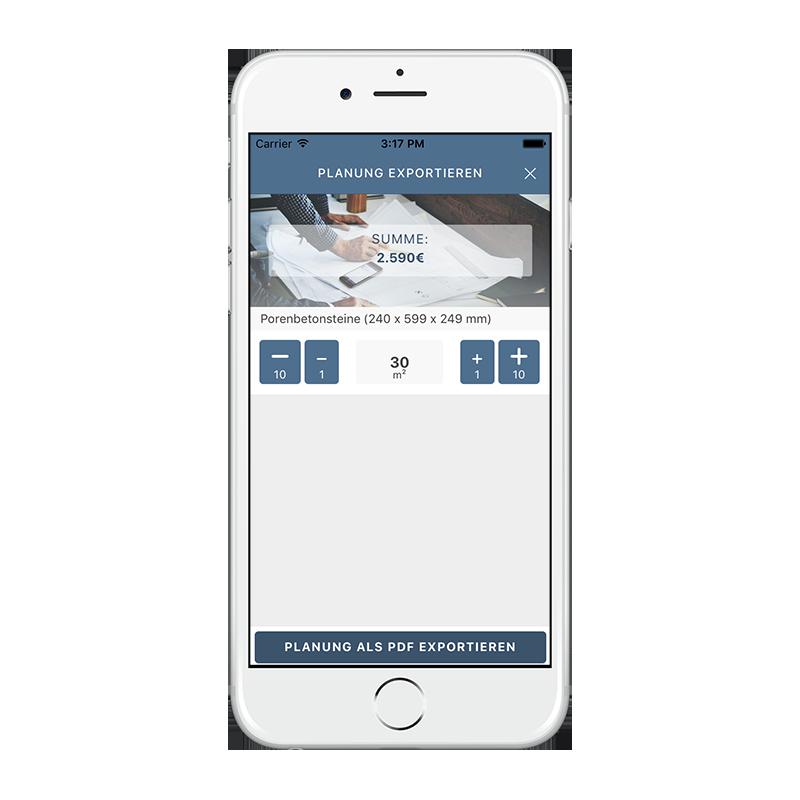 CORES App - Projektexport